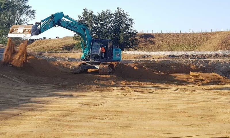 Camex Civil - Projects - Earthworks - 2019 - 2020 Brian Perry Civil/ Waikato Freight Hub at Kohia Drive and Wetlands