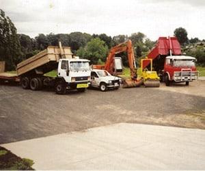 Camex Civil - History - 1998 Cambridge Excavators First Yard