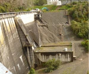 Camex Civil - History - 2010 Karapiro Dam Before