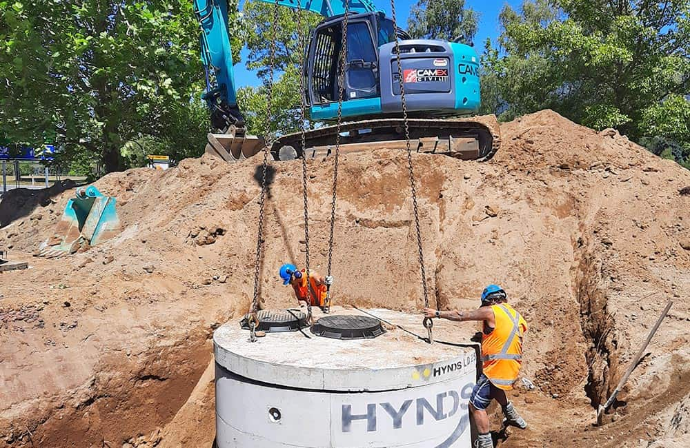 Camex Civil - Projects - Process - 2021 Taupo Stormwater downstream defenders